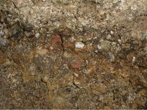 Ejekta Grabenstätt Tüttensee-Krater Chiemgau-Impakt Detail Brekzie Breccie