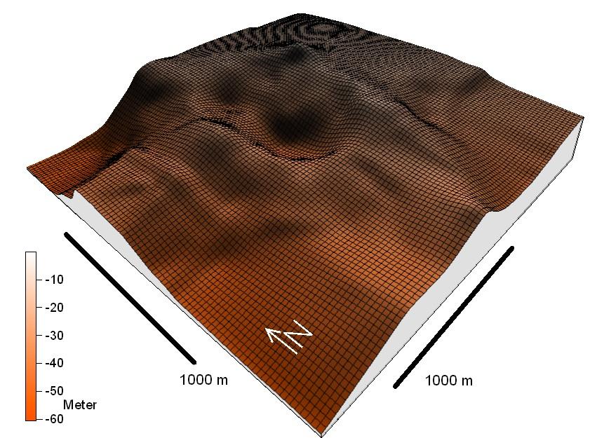 meteoritischer Doppelkrater des Chiemgau-Impaktes