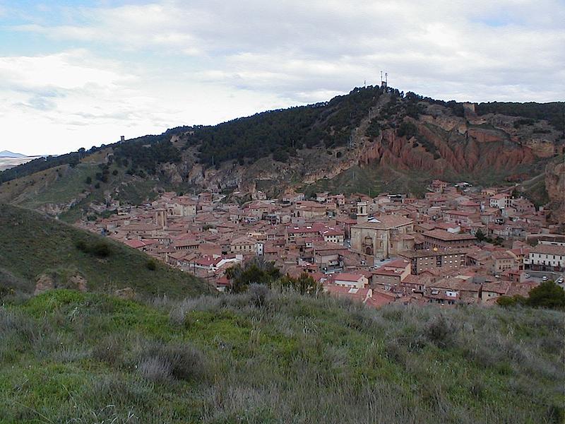 Ansicht des Städtchens Daroca in der Provinz Zaragoza, Spanien