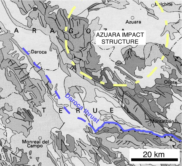 geologische Karte Daroca-Überschiebung