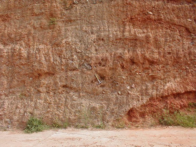 Aufschluss im Tertiär unter der kambrischen Daroca-Platte