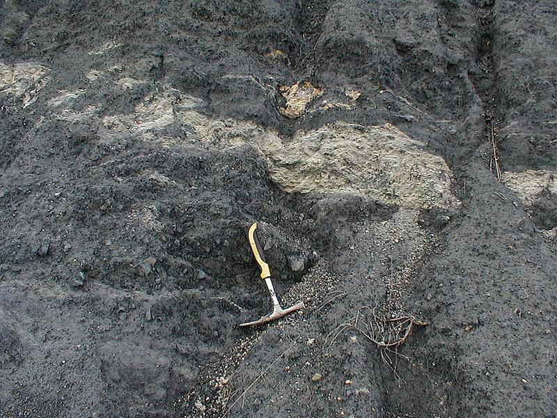 Injektion von Daroca-Sandstein in Valdemiedes-Tonschiefer