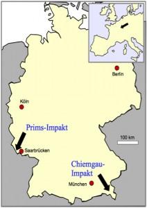 Karte Deutschland chiemgau saarland Impakt