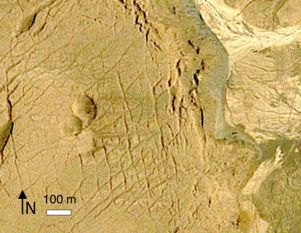 Google Earth Quillagua zwei einzelne Krater der Gruppe NNE 2 ost