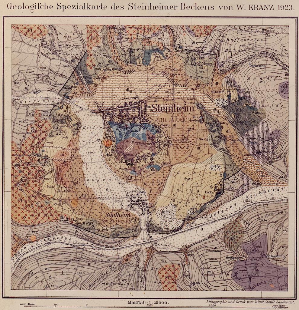 Kranz Geologische Karte Steinheimer Becken