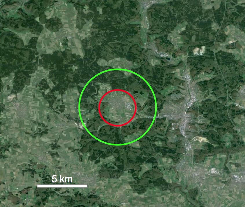 Steinheimer Becken Meteorkrater Durchmesser