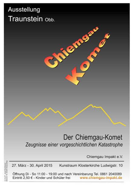 Plakat Ausstellung Chiemgau-Komet