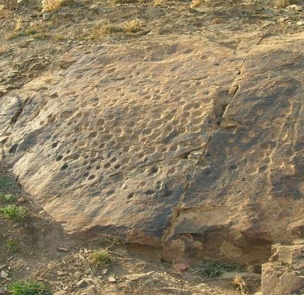 Schalenstein von Romanos Archäologie in der Azuara Impaktstruktur
