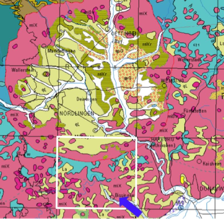 Ries-Krater geologische Übersichtskarte