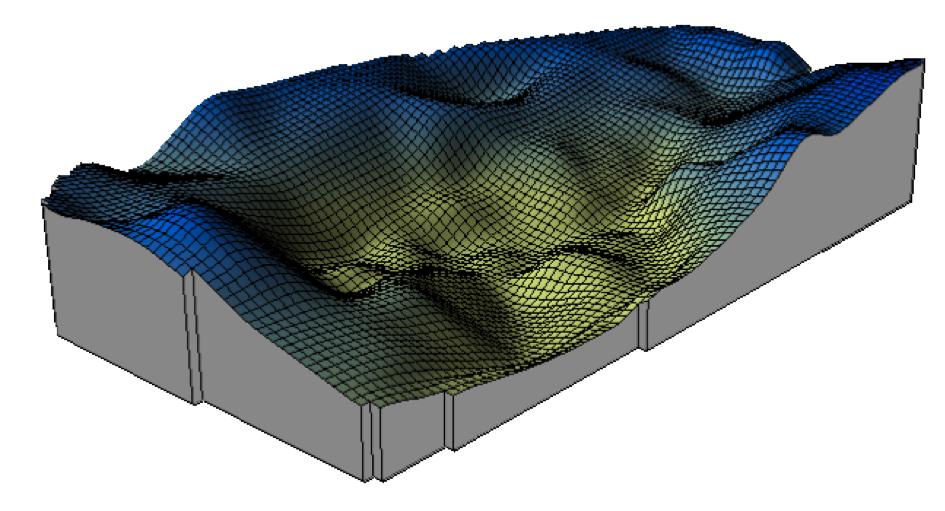Gravimetrie Ries Bissingen Bouguer-Karte 3D